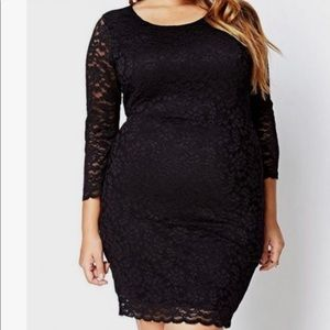 Forever 21 Lace Bodycon Dress In Black